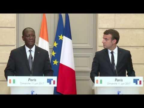 Rencontre président Quattara et Macron : Prise de parole du président ALASSANE OUATTARA