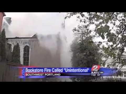 Bookstore fire 'unintentional'