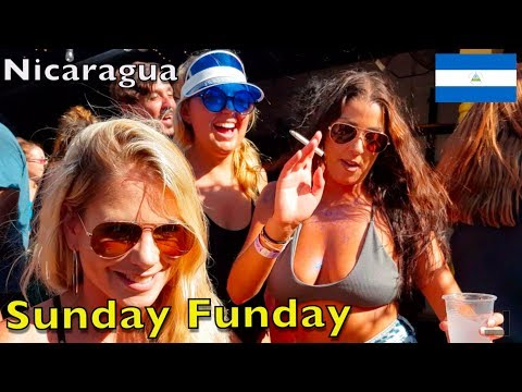 Epic Party SUNDAY FUNDAY in San Juan Del Sur Nicaragua