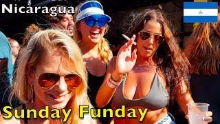 SUNDAY FUNDAY in San Juan Del Sur Nicaragua