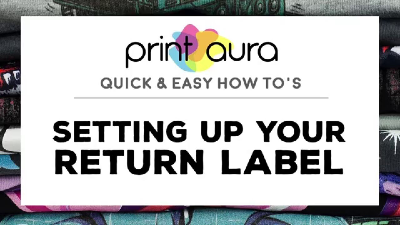 How to setup your shipping return label