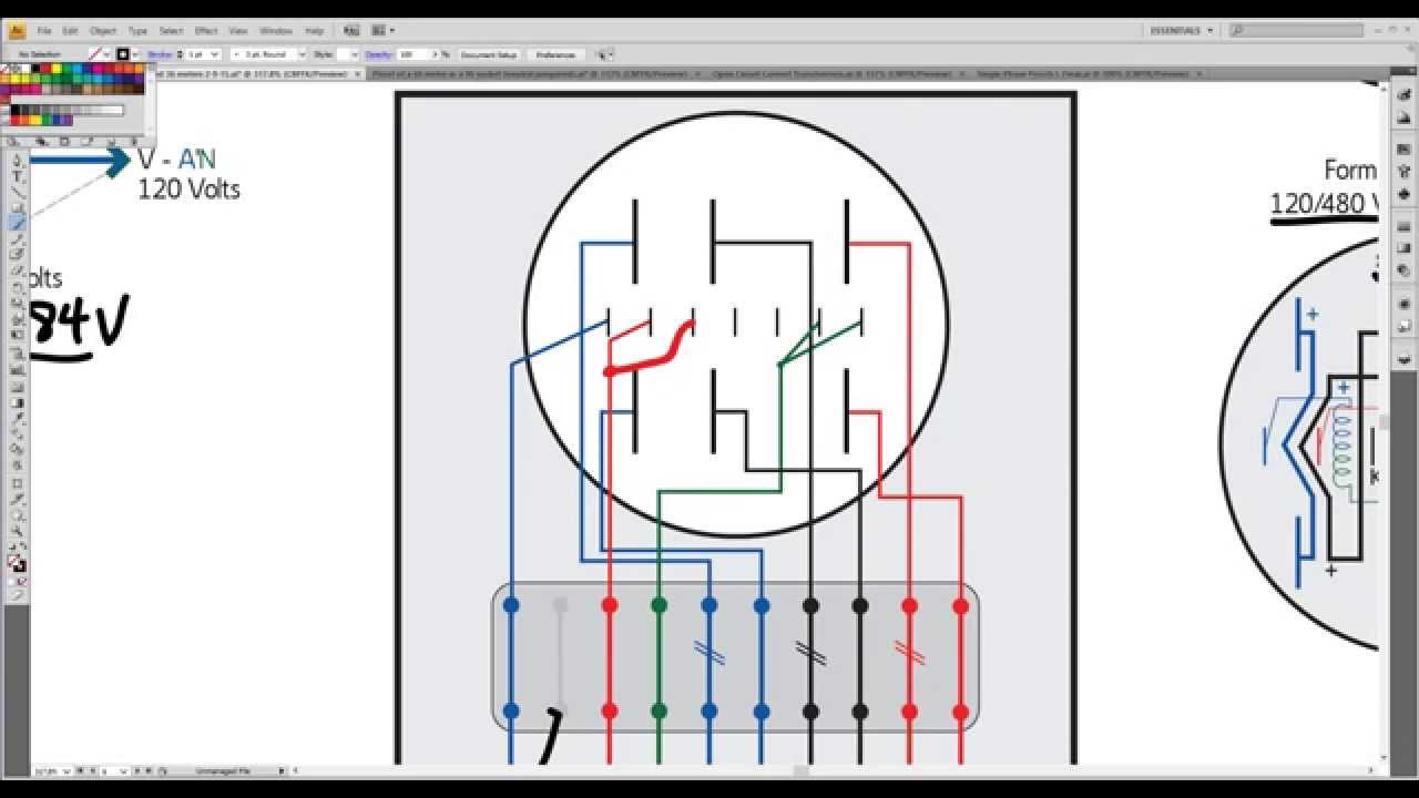 Wire Diagram 120 208 Metergod Monday 6s Amp 36s Comparison On A 4 Wire Wye