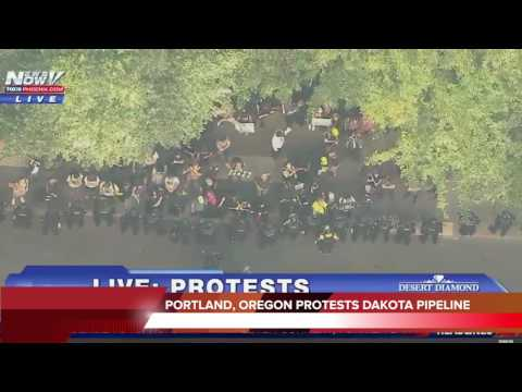 Portland Oregon Residents Protests Over Dakota Access Pipeline - 09/09/16