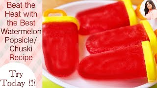How to make Watermelon Popsicles, Fruit Popsicles, Summer Special, homemade popsicle recipe