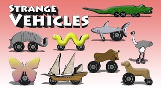 Strange Vehicles - Funny Cartoon Cars Trucks Other Vehicles For Kids