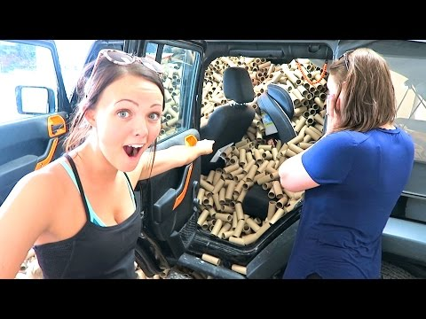 WE DESTROYED HER JEEP!!