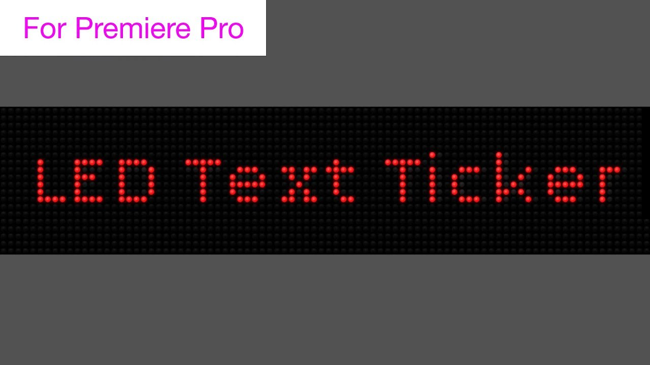 LED News Ticker Text Generator - Motion Graphics Template
