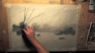 Архитектор, дизайнер, художник Андрей Волков. Pastel Speed Painting | winter forest