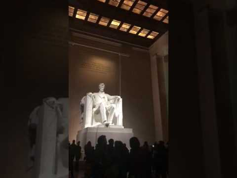 Heather Knox at the Lincoln memorial