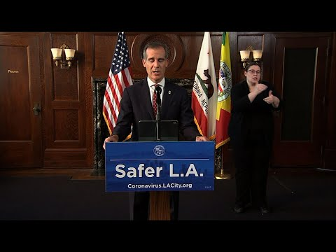 Los Angeles mayor calls for more federal virus aid