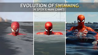 Evolution of Swimming in Spider-Man Games (2004-2018)