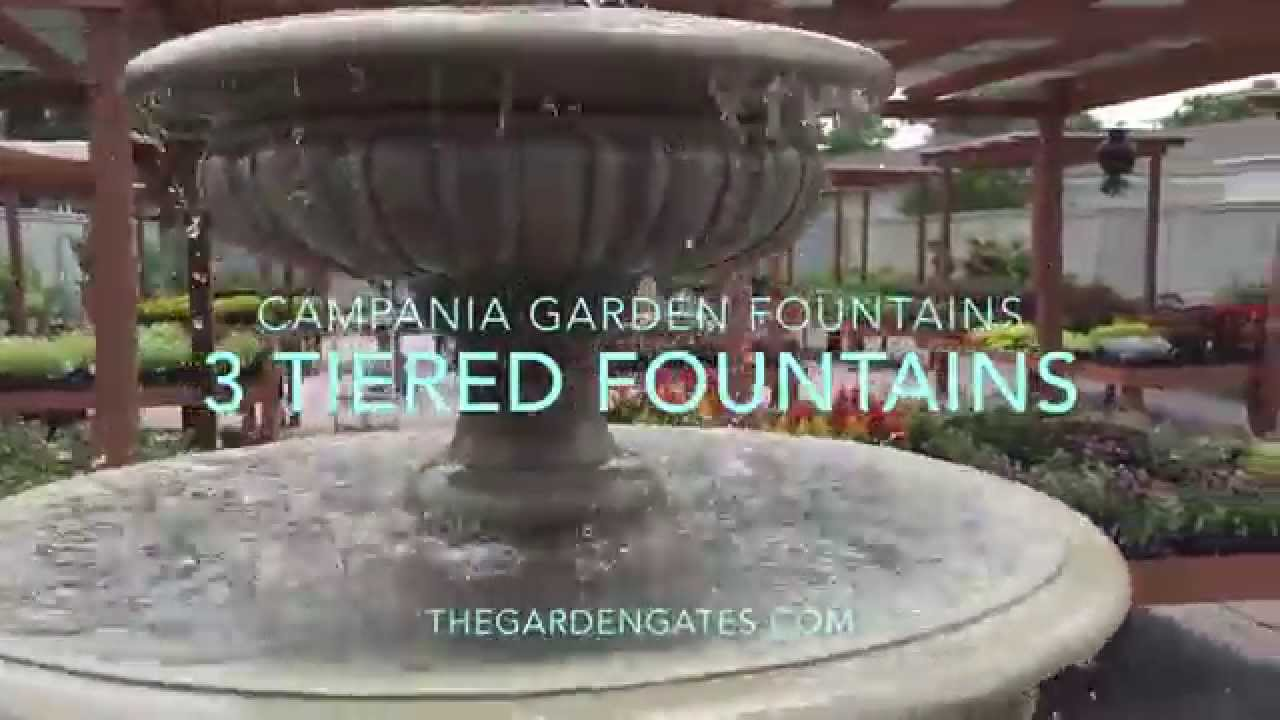 3 Tiered Garden Fountains   YouTube