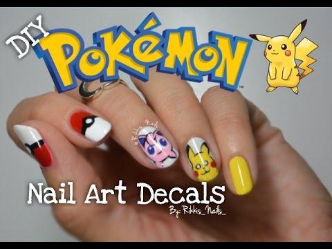 Diy Pokemon Go Nail Art Decals Pikachu Amp Jigglypuff Youtube