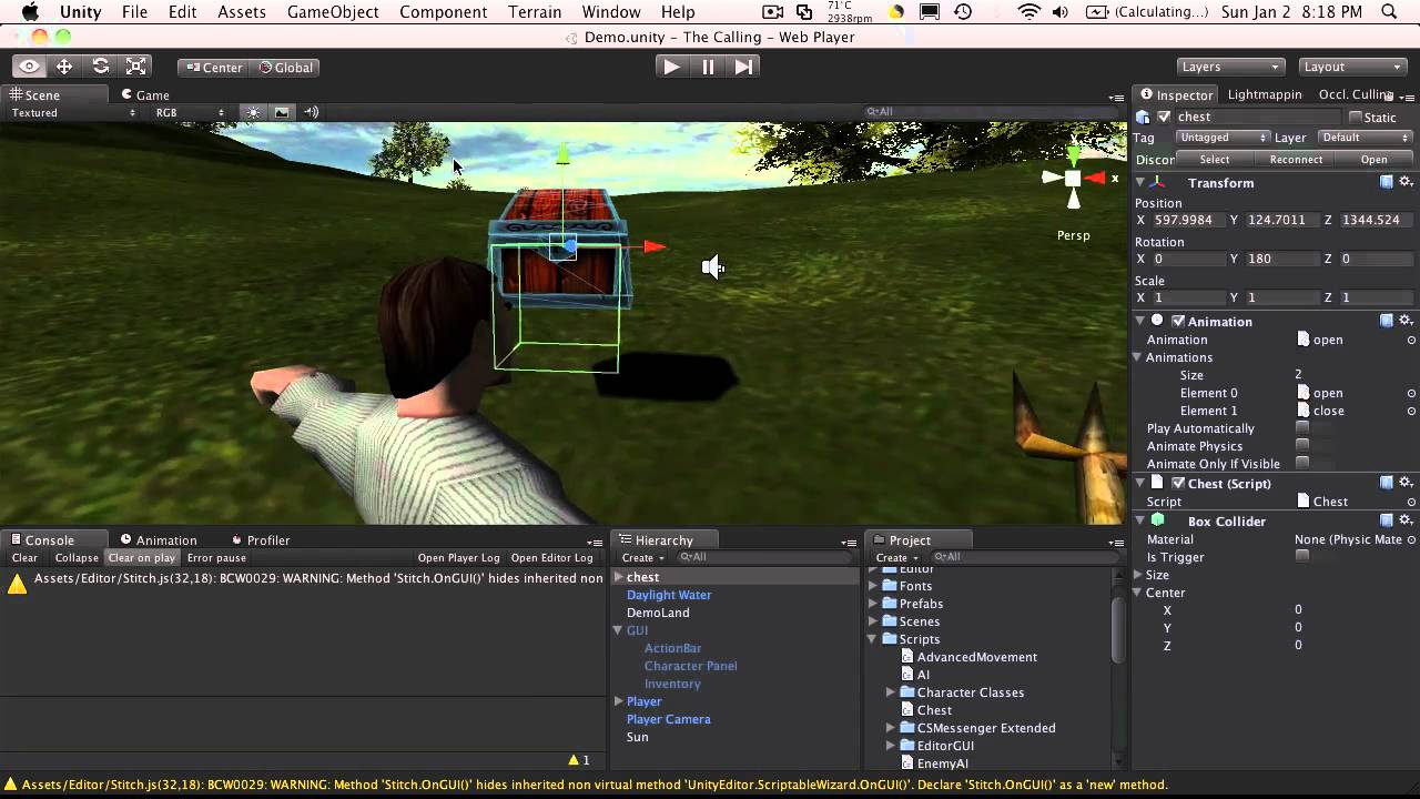 111  Unity3d Tutorial - Interacting With Game Objects Part 1