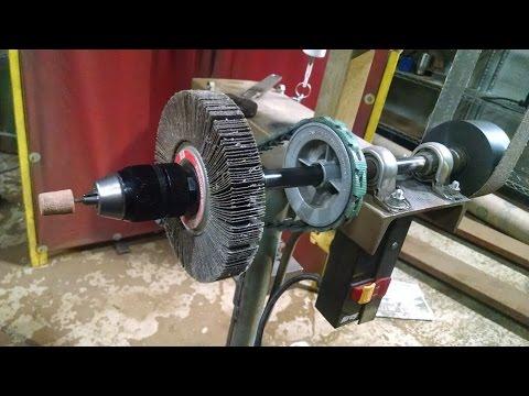 how to make a belt sander for knife making