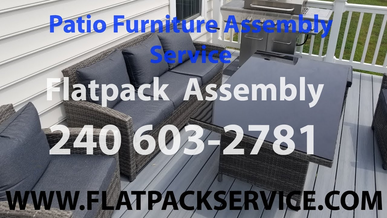 Outdoor Patio Furniture Assembly In Washington DC By Flatpack Assembly 202  277 5911