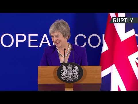 : Theresa May gives press conference following EU summit