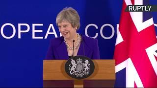 LIVE: Theresa May gives press conference following EU summit