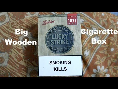 Big Wooden Cigarette Box