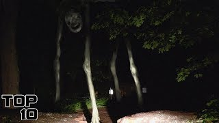Top 10 Scary Things Caught On Camera In The Woods