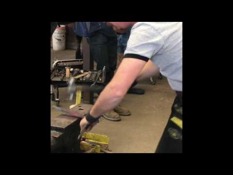 """Kahn Forge 1/2"""" Round Head Tongs used by Tom Petersen of WCB Team at World Horseshoeing Classic 2017"""