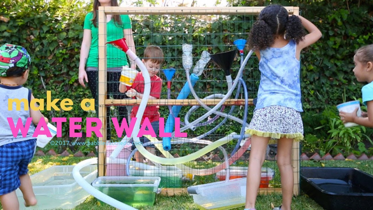 17 Ideas About Funny Toddler On Pinterest: Make A DIY Water Wall