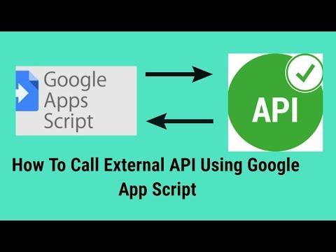 How To Call External API Using Google App Script
