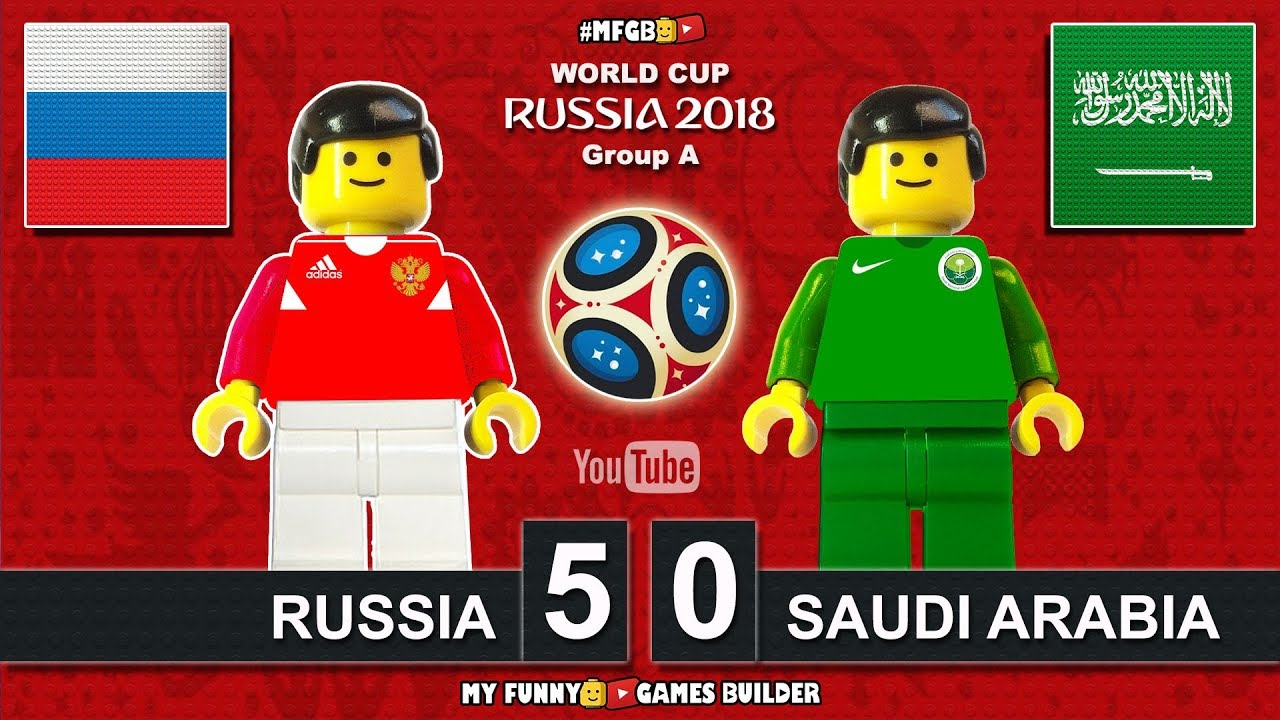 Download Russia vs Saudi Arabia 5-0 • World Cup 2018 (14/06/2018) All Goals Highlights Lego Football