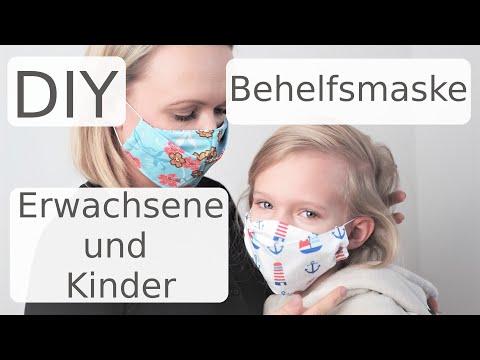 DIY Mundschutz nähen - Maske - Gesichtsmaske - für Erwachsene und Kinder