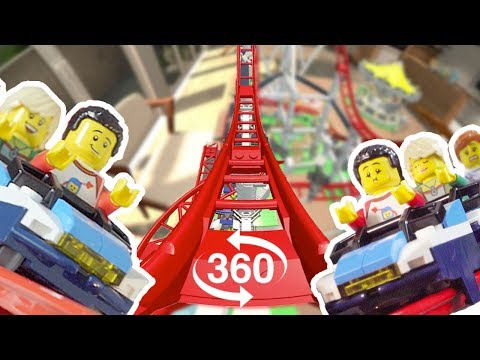 The LEGO Roller Coaster set 360 POV Experience !