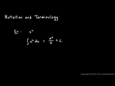 Calculus 5.2e - Notation and Terminology