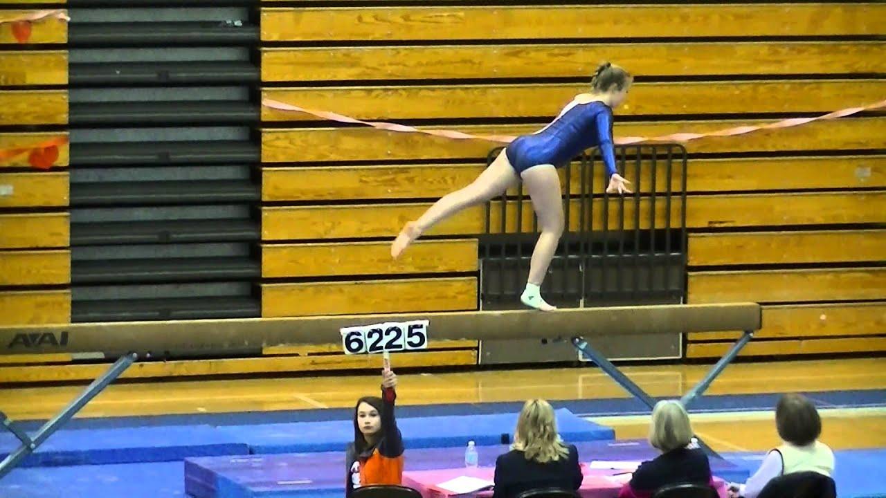 Gymnastics Districts 2015 Muirenn On Beam Nathan Hale High School