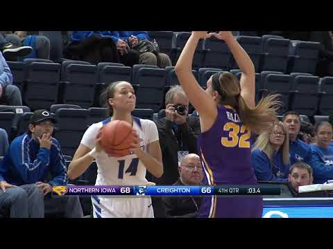 Creighton Women's Basketball vs. Northern Iowa Highlights - 11/21/17