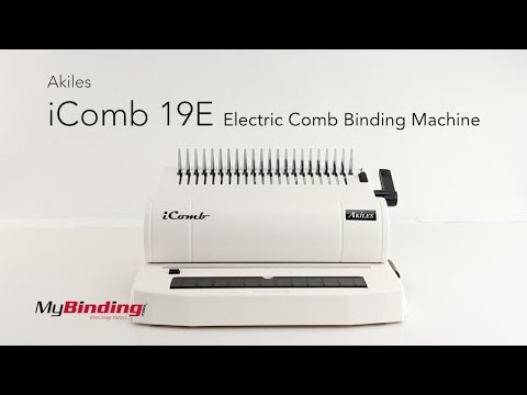 Akiles IComb 19E Electric Comb Binding Machine