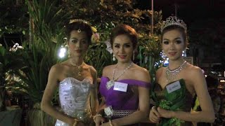 Ladyboys Dressed Up for Loy Krathong | Kathoey | Pattaya Video