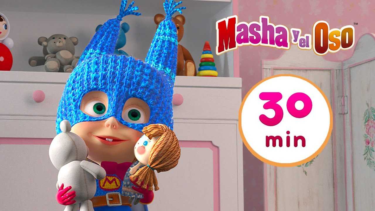 Masha y el Oso 🐻👧Super Masha 🦸♀️🏍️ Сolección 29 🎬 30 min 🥳 Dibujos animados