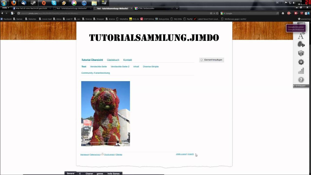Mouseover Bildzoom/ Rahmen Anpassen   tutorialsammlung.jimdo - YouTube