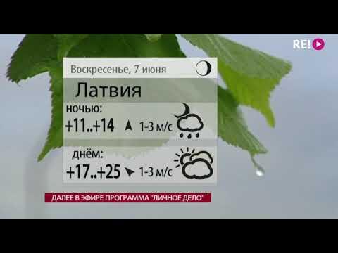 Прогноз погоды на 06.06