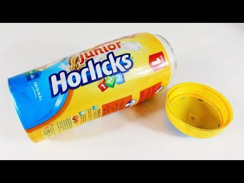 হরলিক্সের খালি পট দিয়ে নাইস আইডিয়া | Diy Arts and Crafts With Horlicks Pot thumbnail