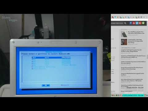 EEE PC Netbook 900a part 3 - Installing Bliss x86 OS 7.2 -  Android-x86