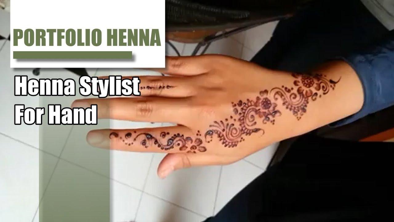 Gambar Henna Tangan Sederhana Arabic Disain Youtube