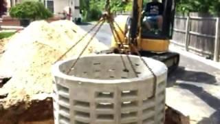 Drywell install Lange family cesspool 631-624-0402
