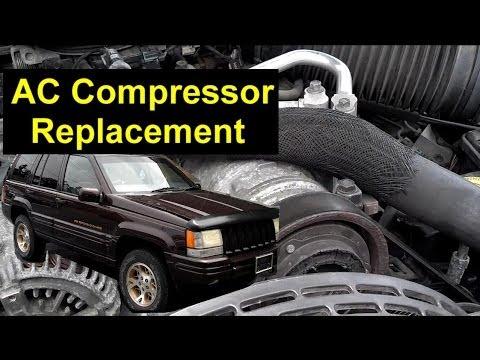A//C Compressor and Clutch-New Compressor fits 99-04 Jeep Grand Cherokee 4.7L-V8