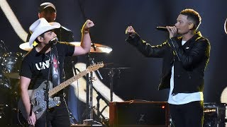 """Kane Brown Joins Brad Paisley for """"Heaven South"""" at 2017 CMAs Video"""
