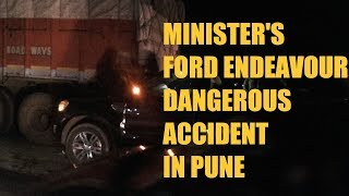 Ford endeavour unbelivable accident passenger safe || babanrao pachpute accident