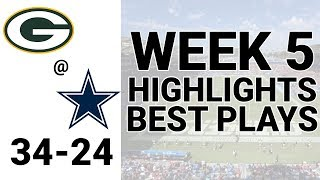 Packers v Cowboys Highlights Week 5 | NFL 2019