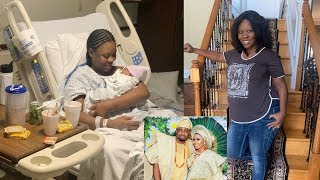 WATCH Yoruba Actress Wumi Toriola Welcomes First Child A Baby Boy With Husband In US