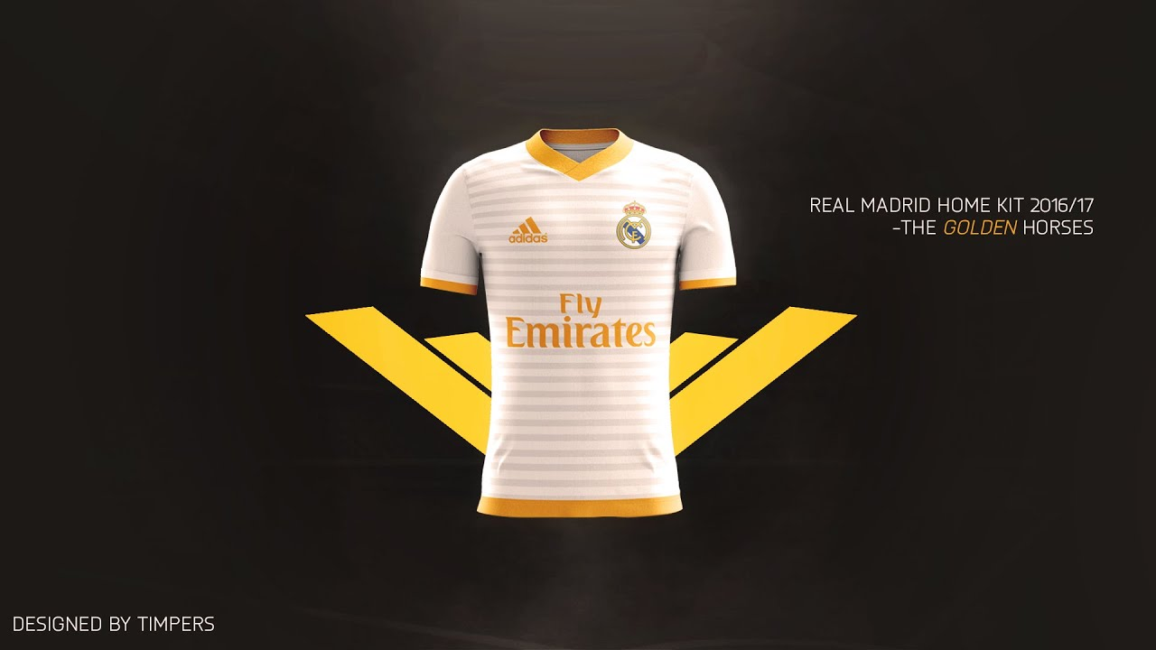 Photoshop Football Kit Design Advertisement Real Madrid Home Kit - Home design kit