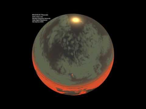 Earth, Moon, Sun   dome view   1080p