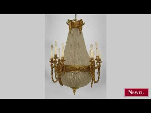 Antique French Victorian (19/20th Cent) 12 arm chandelier